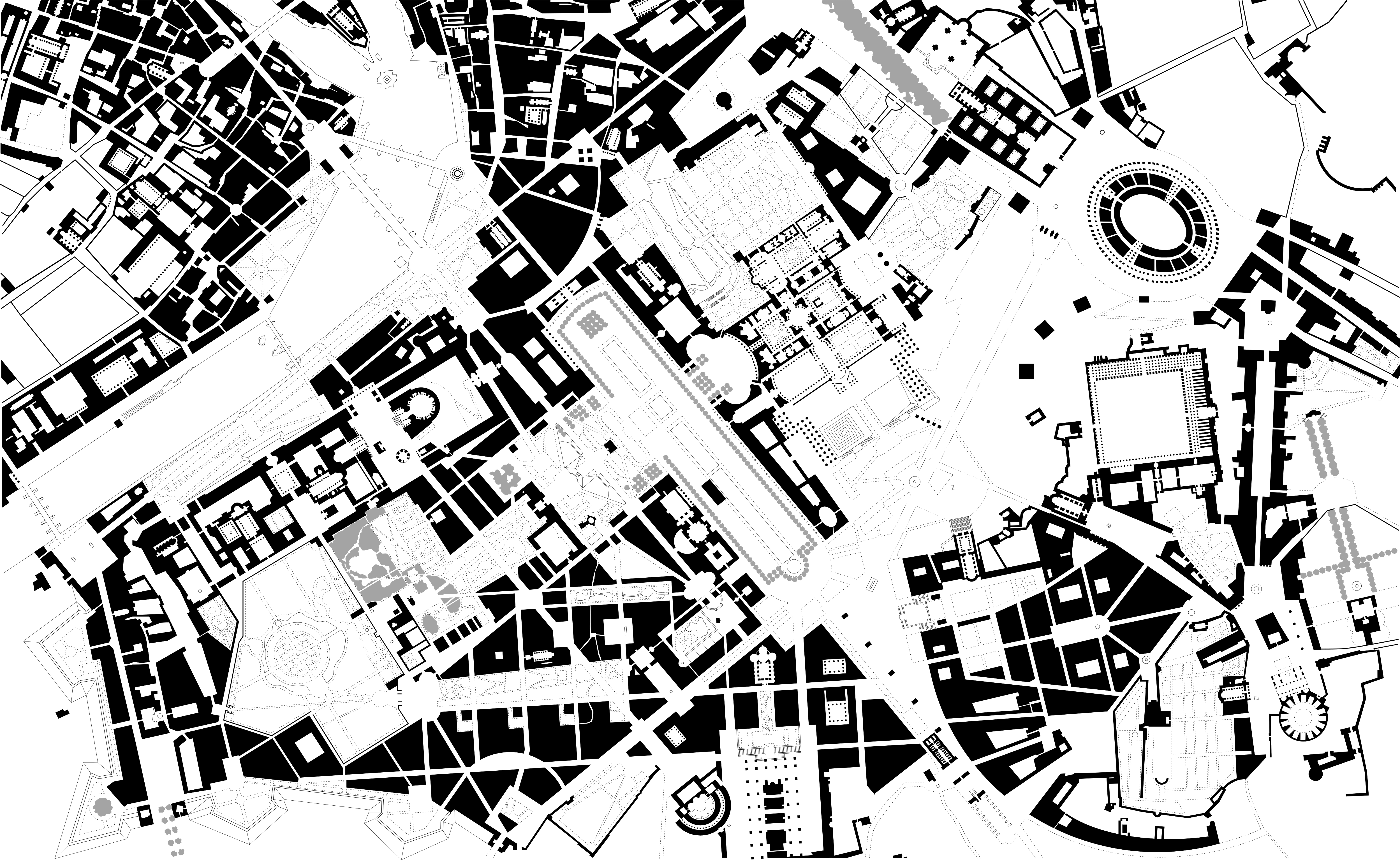 the plan game the origins of collage city looking cities 1970s San Diego Skyline roma interrota original rowe02